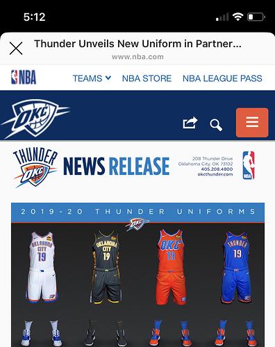 2020 Thunder Uniforms Nba Talk 2k Gamer